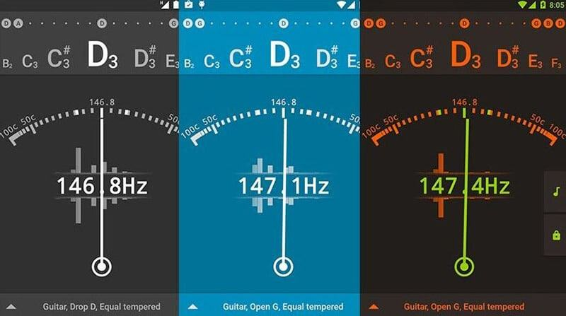 How To Tune A Guitar Using A Smartphone App.