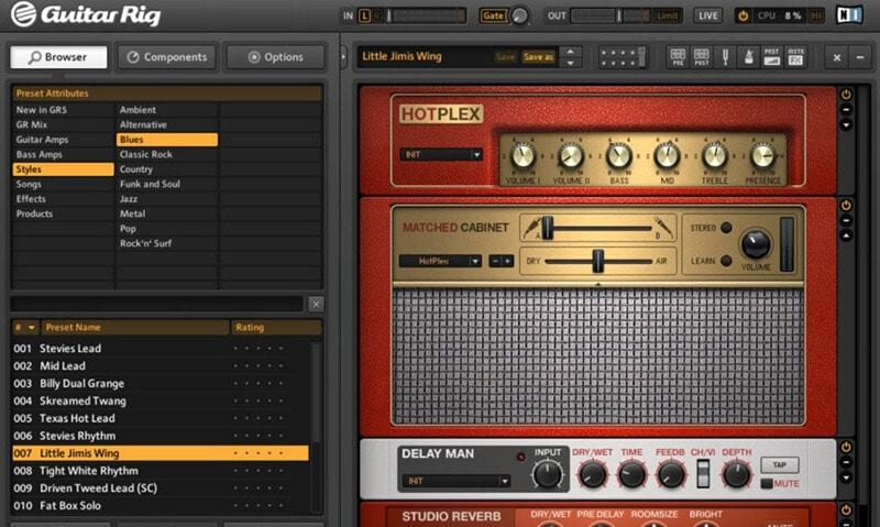 Experience guitar rig 5