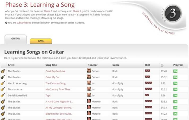 Guitar Lesson Extra Features