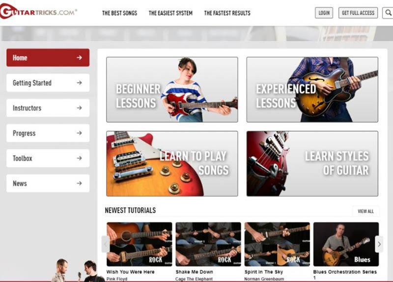 Jamplay or Guitar Tricks Guitar Lessons