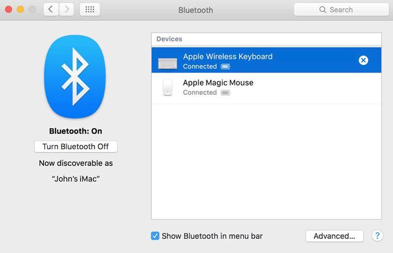 Make sure Bluetooth is turned on.