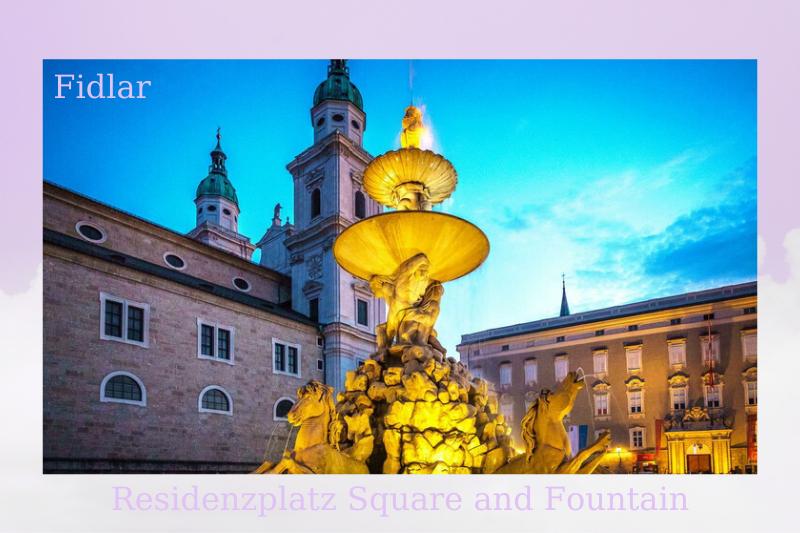 Residenzplatz Square and Fountain, Salzburg