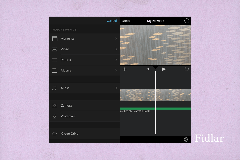 How to add music to an iPhone Video using iMovie