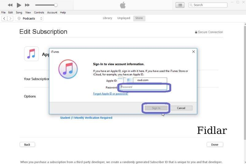 Cancelling Apple Music Subscriptions on iTunes