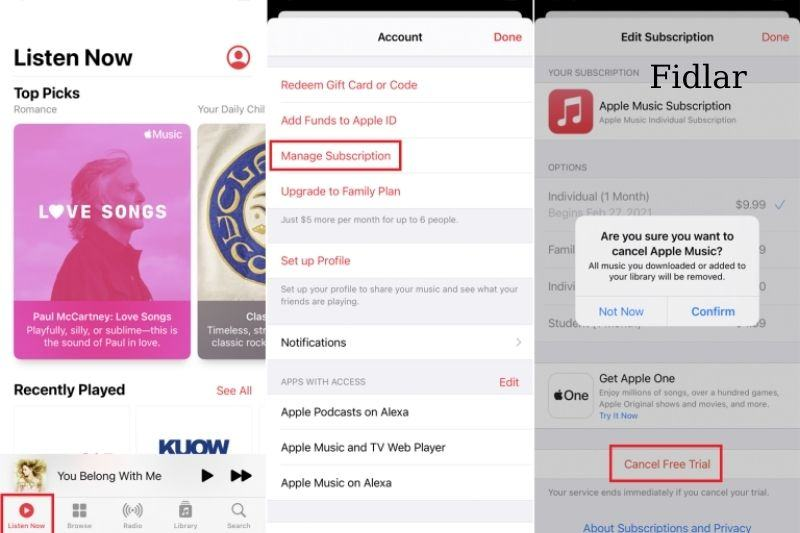How to cancel your Apple Music on Iphone