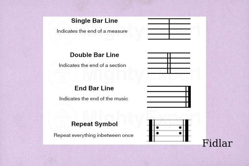 5 Types of Bar Lines and Their Meanings