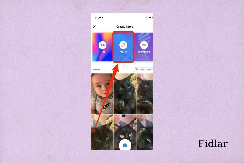 Add music story to your Facebook stories